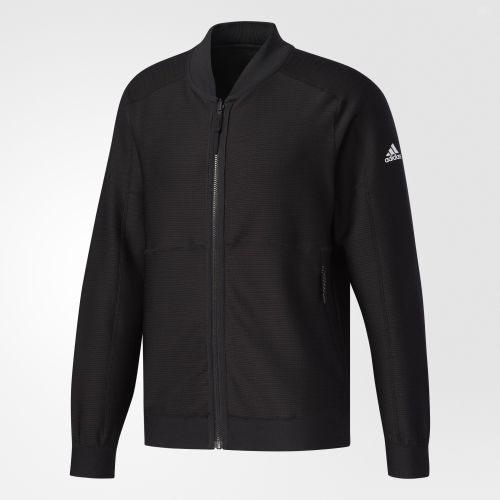 ADIDAS男裝外套休閒圓領針織兩面穿舒適黑【運動世界】BR0229