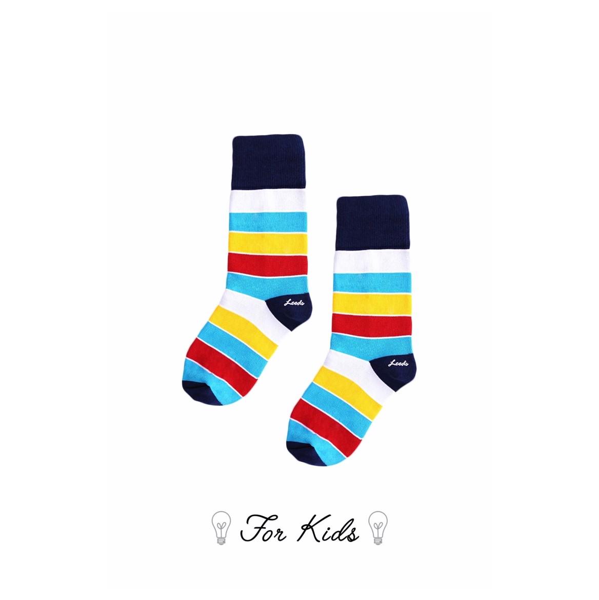 Leeds weather【英國設計】天然純棉孩童襪★超氣質條紋襪子【Cotton Socks Recommendations】- York ( Chalk & Cheese 系列共4款) 皇室御用推薦、可愛穿搭、透氣舒適