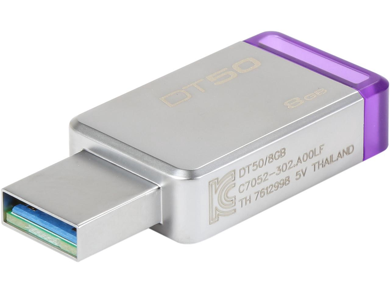 Kingston 8GB DataTraveler 50 8G DT50 USB 3.1 Gen 1 USB 3.0 30MB/s Flash Pen Thumb Drive DT50/8GB 1