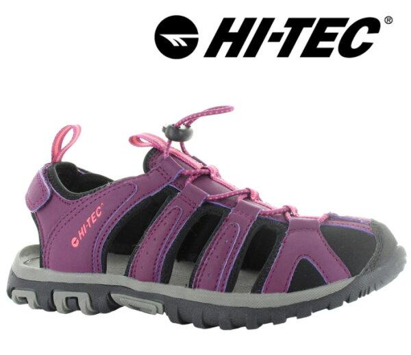【HI-TEC英國】COVE水陸二棲護指涼鞋葡萄紫女款/O006193090