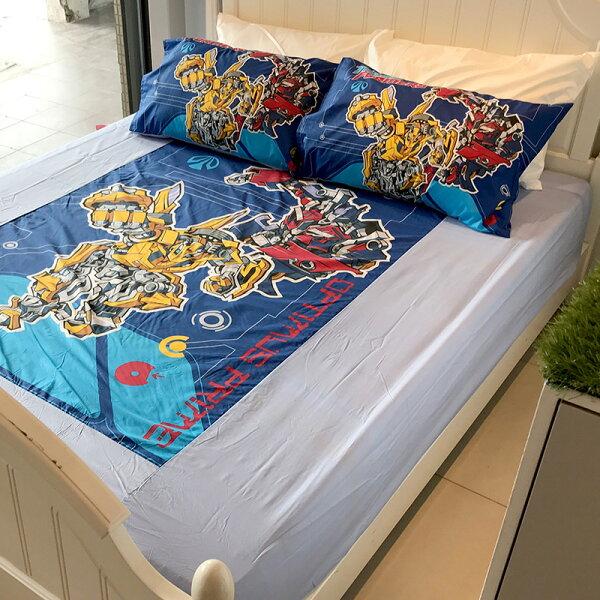 床包雙人加大【變形金剛勇氣篇】混紡精梳棉,含兩件枕套,正版授權,戀家小舖,台灣製