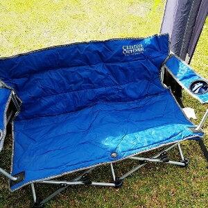 美麗大街【107013008】情侣椅靠背双人椅家用野外露营烧烤椅便携椅