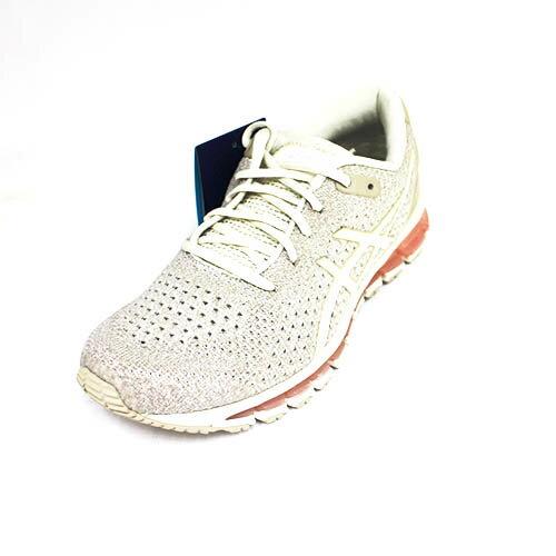 ASICSGEL-QUANTUM360女全掌亞瑟膠彈力針織慢跑鞋T890N-200米粉[陽光樂活]
