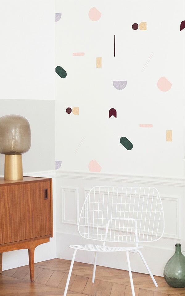 法國壁紙 幾何形圖案  2色可選  Season Paper x Heju合作壁紙 1