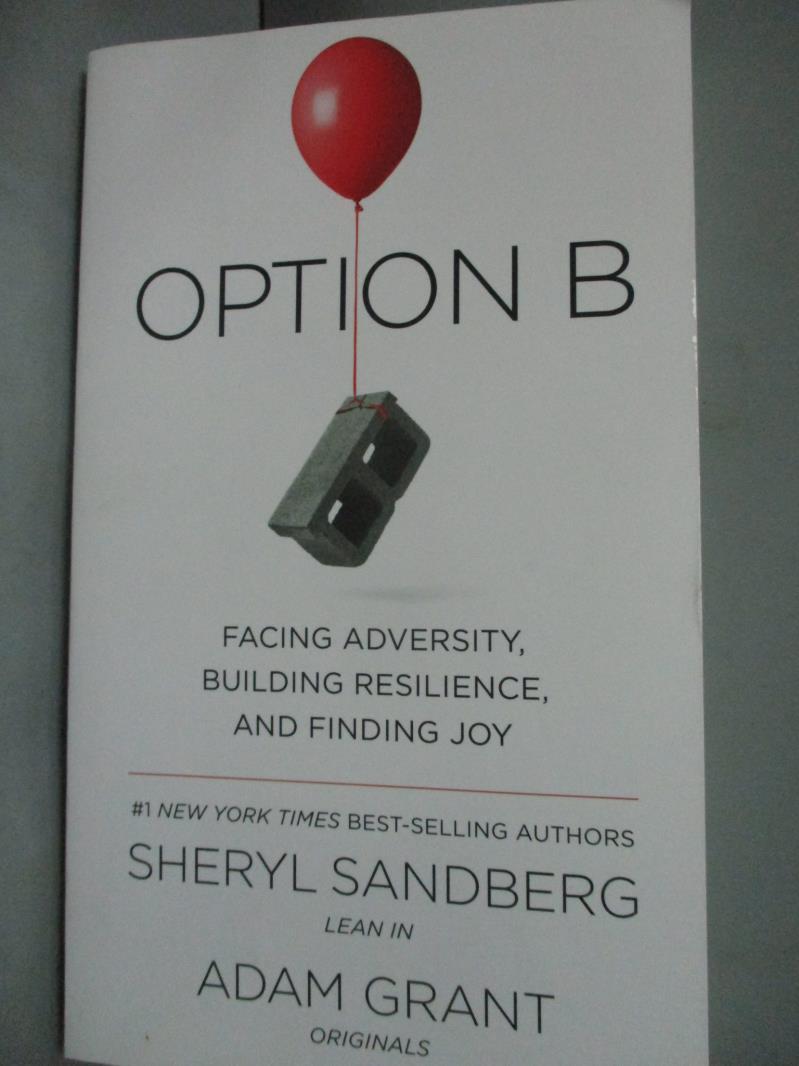 ~書寶 書T1/心理_WEQ~Option B_Sheryl Sandberg Adam