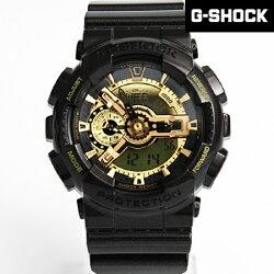G-SHOCK 黑金重機雙顯手錶 柒彩年代【NECG4】casio