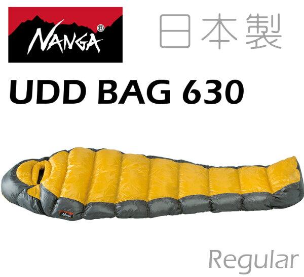 Nanga日本製羽絨睡袋登山睡袋UDD630法國頂級白鴨絨770FP撥水處理24563黃色