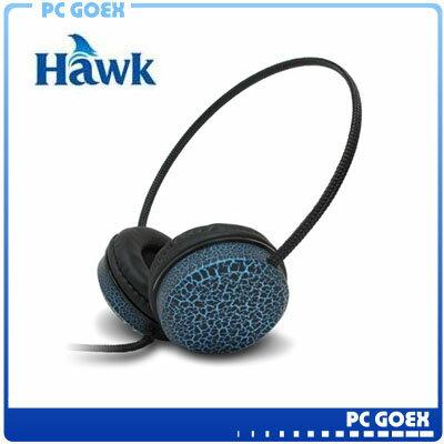Hawk 755 雙用立體聲耳機麥克風-藍☆pcgoex軒揚☆
