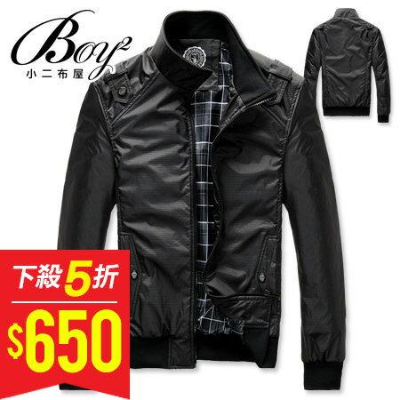 ☆BOY-2☆【NZ78004】韓滑面立領防風軍裝外套 0