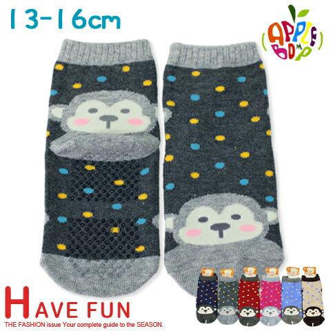 止滑童襪 猴子款 直版襪 台灣製 本之豐