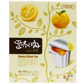 【韓國進口】膠囊式蜂蜜柚子茶 450g 茶球禮盒 30gX15顆