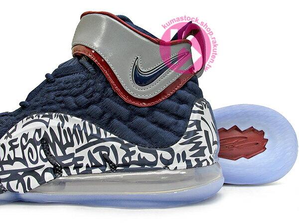 2020 NBA 最新款 LeBRON JAMES 最新代言 NIKE LEBRON XVII FP EP LBJ 17 GRAFFITI 4 WATCH 深藍白 塗鴉 全新 KNITPOSITE 飛織鞋面 前 15mm ZOOM MAX AIR 後 MAX AIR 氣墊 小皇帝 雷霸龍 KING LAKERS 頂級科技 籃球鞋 (CT6052-400) 0720 3