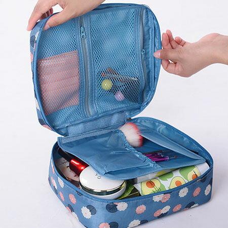 韓版 新款印花手提漱洗包 便攜式 旅行包 盥洗包 收納包 化妝包 手提式 防水 旅行 出國【B062329】