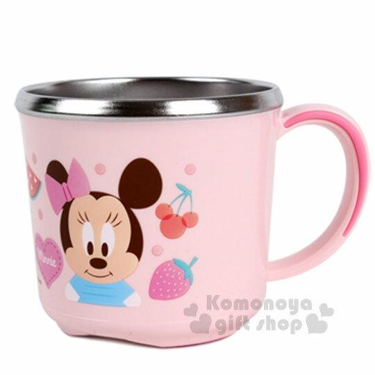 〔小禮堂韓國館〕迪士尼 米妮 不鏽鋼隔熱杯《粉.朋友.水果.250ml》