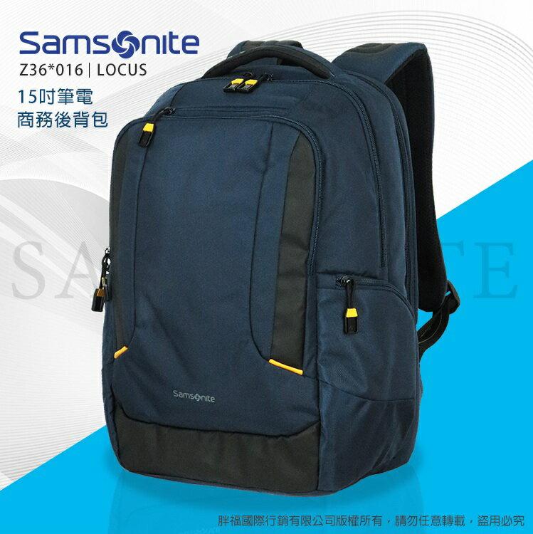 Samsonite新秀麗LOCUS N1 輕量後背包Z36*016 大容量14吋筆電平板商務包公事包 可插掛拉桿 寬版背帶雙肩包