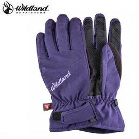[ WILDLAND 荒野 ] 女 彈性PR防風防水手套 紫色 / 0A22001-53 {M}