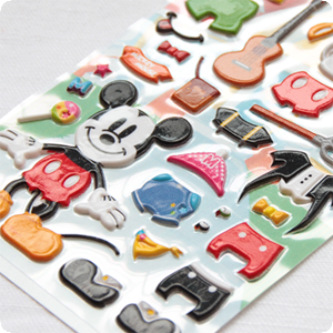 『樂魔派』日本進口迪士尼米老鼠米妮米奇史迪奇奇蒂蒂小熊維尼立體泡棉貼紙