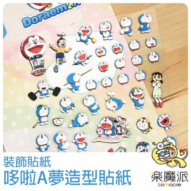 『樂魔派』日本進口正版 哆啦A夢貼紙 裝飾貼紙 底片相片日記裝飾