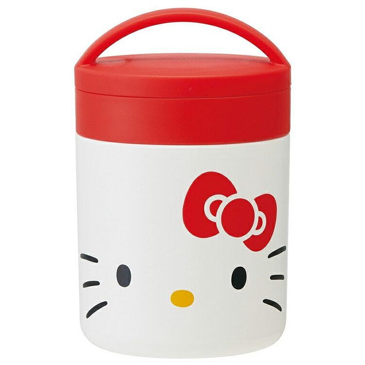 日本製三麗鷗凱蒂貓HelloKitty不鏽鋼超輕量 保溫保冷 手提便當罐 300ML 日本進口正版 392061