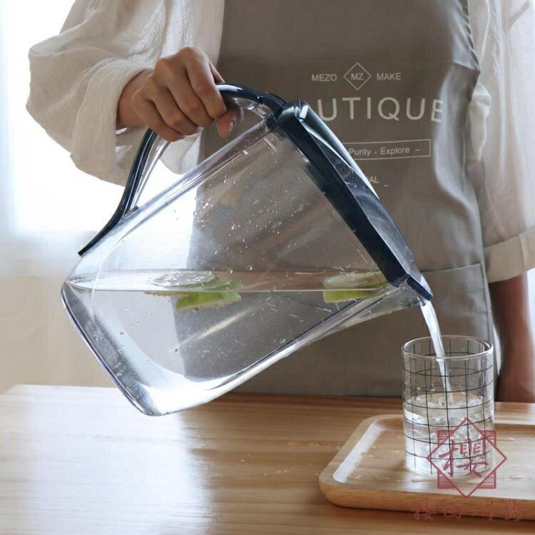 家用塑料冷水壺涼水壺耐熱大容量夏季茶水壺