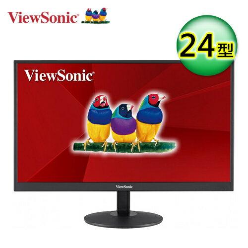 【ViewSonic 優派】24型VA寬螢幕(VA2403-H) 【買再送折疊收納購物袋】【三井3C】
