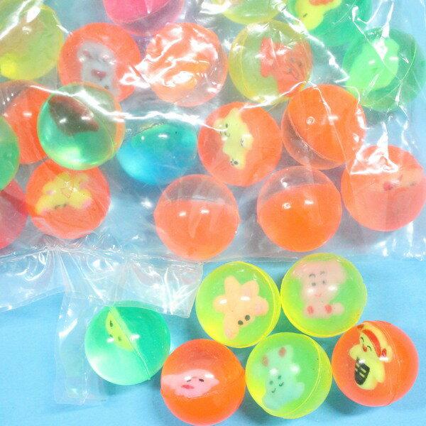 小彈力球 25mm水撈球 (有圖)彈跳球 跳跳球 水漂球 橡膠球玩具/一件2000個入{定3}~YF10656