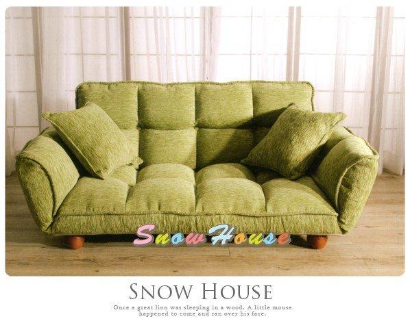 ╭☆雪之屋居家生活館☆╯AA488-01青草綠雙人沙發床(6段調節)沙發椅造型沙發雙人沙發三人沙發躺椅坐臥椅