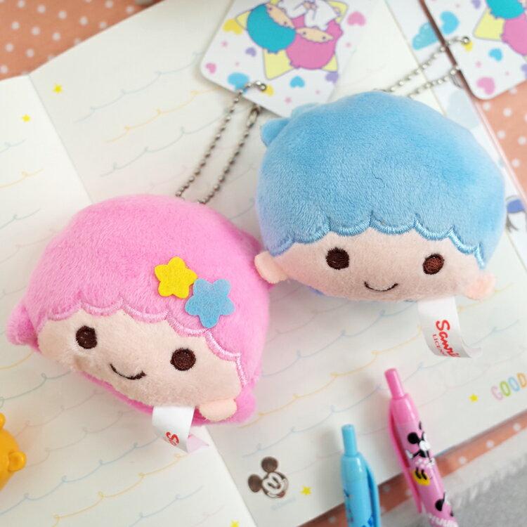 PGS7 三麗鷗系列商品 - 三麗鷗 雙子星 Kikilala Twins 頭型 小吊飾 娃娃 珠鍊 吊飾【SKK7161】