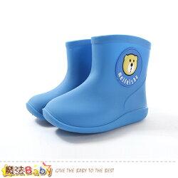 兒童雨鞋 附鞋墊兒童短雨靴 魔法Baby~sk0626