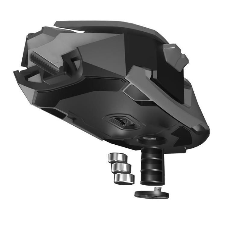 【八折】電競機械滑鼠有線游戲專用usb光電筆電臺式家用金屬加重