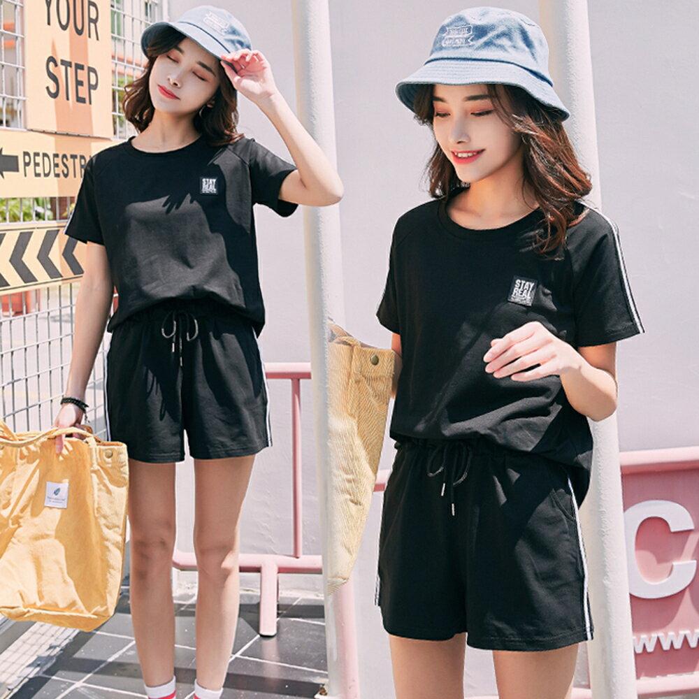 運動套裝夏裝時尚夏天休閒學生寬鬆兩件套運動服女夏季新款潮 雙12購物節
