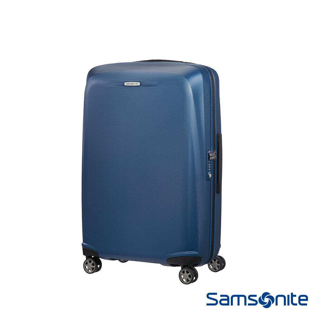 【福利品】Samsonite新秀麗 Starfire飛機輪TSA防刮耐磨PC行李箱25吋(藍) - 限時優惠好康折扣