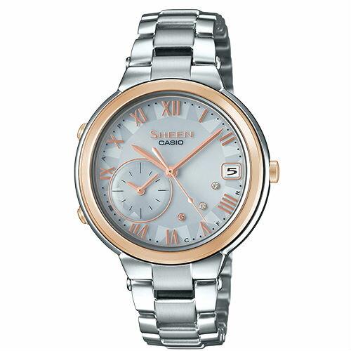 CASIO卡西歐SHEENSHB-200ASG-7A太陽能藍芽時尚都會腕錶35mm