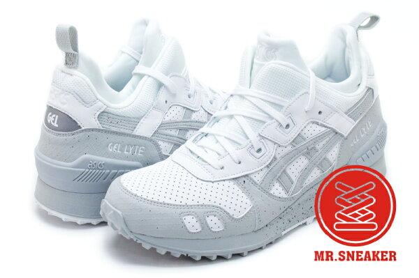 ☆Mr.Sneaker☆ASICSTigerGel-LyteMT白灰色高筒增高H7Y4L0196男段