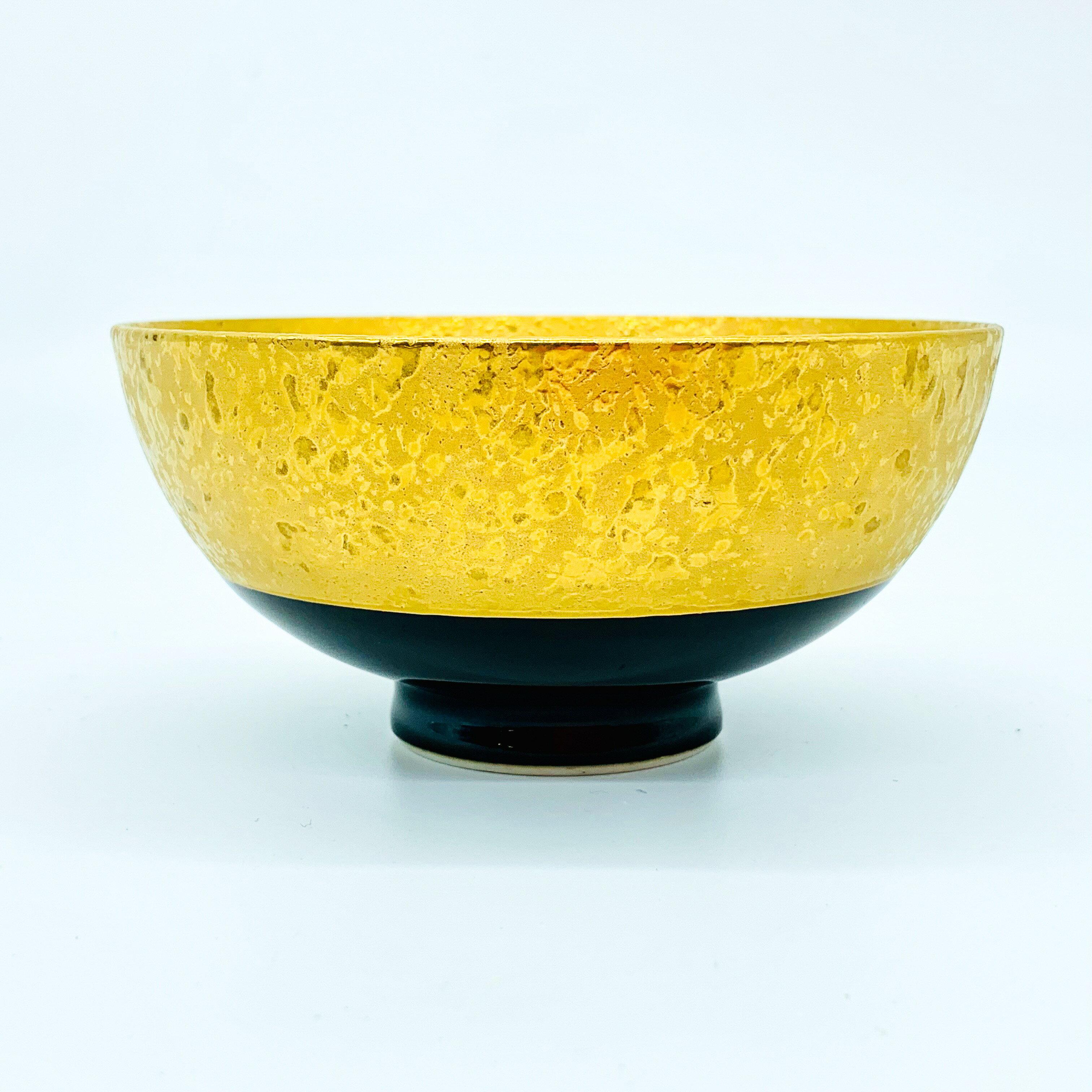 日本有田 有田燒 金濃黑釉碗 400年歷史 日本直送 金飯碗 職人手作