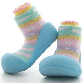 【淘氣寶寶】韓國【Attipas】快樂腳襪型學步鞋-嗡嗡繽紛系列(天空藍)XL