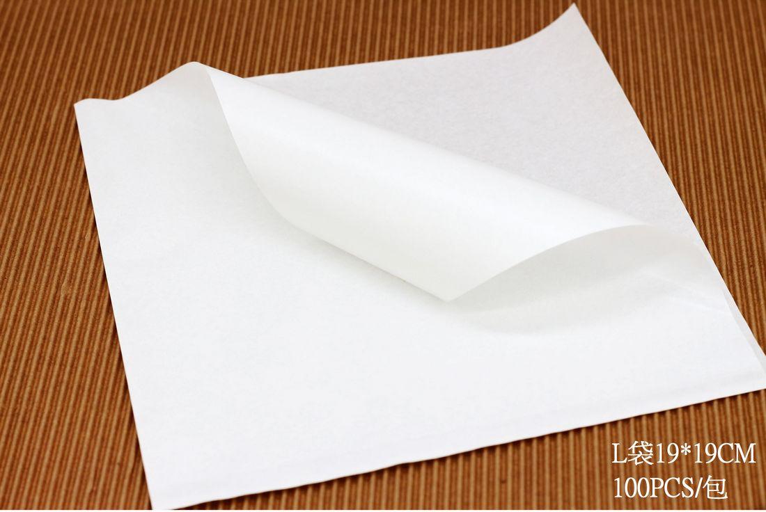L包裝袋 美式漢堡輕食袋 三明治袋 鬆餅袋 食品級包裝紙袋 白色款