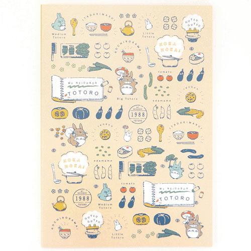 【真愛日本】18022500021 日本製A4筆記本-烹飪飯食 宮崎駿 龍貓 TOTORO 筆記本 日記本 記事簿