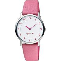 agnès b.手錶推薦到AGNES.B/浪漫法國時尚圈藝術女腕錶/粉桃紅/7N00-0BC0P就在方采鐘錶推薦agnès b.手錶