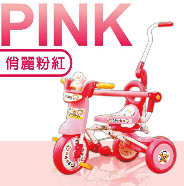 『121婦嬰用品館』PUKU 豪華型輔助三輪車-粉 2