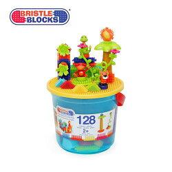 美國【B.Toys】鬃毛積木 叢林冒險系列(128PCS)BT3088Z★衛立兒生活館★