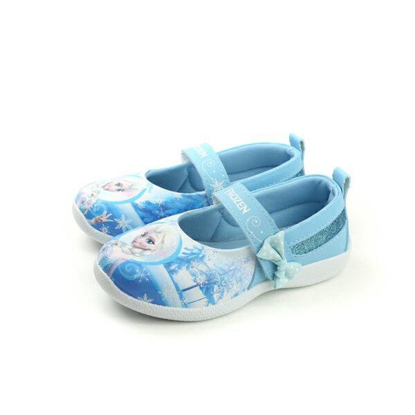 HUMAN PEACE:FrozenElsaAnna冰雪奇緣娃娃鞋淺藍色中童FOKP74786no611
