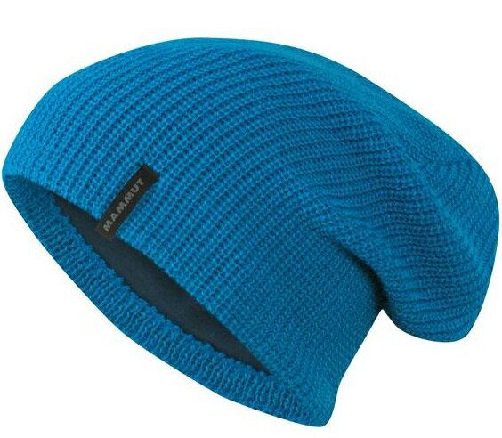 Mammut 長毛象 登山毛帽/登山保暖帽/滑雪/旅遊 Runbold 保暖編織帽 1090-04880-5872 大西洋藍