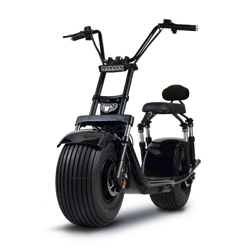 啟牛X哈雷電瓶車成人新款雙人大輪胎電動摩托車跑車自行車  七色堇 新年春節送禮