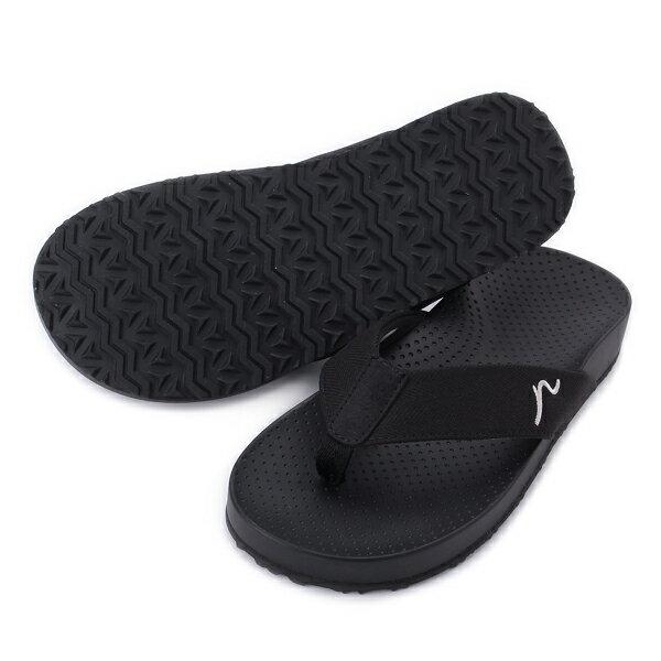 KANGOL【6851220220】英國袋鼠 拖鞋 夾腳拖 休閒 黑色 男生