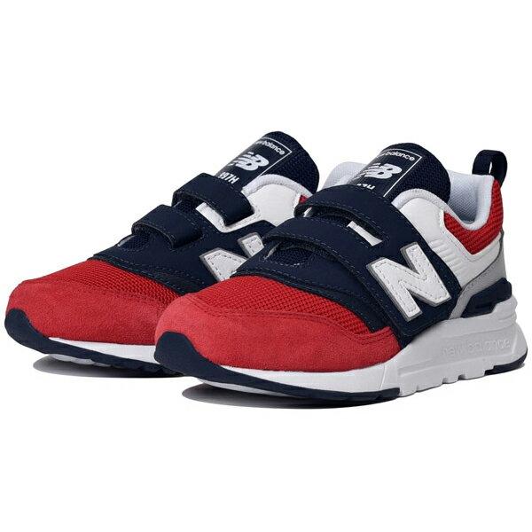 Shoestw【PZ997HEA】NEW BALANCE NB997 中童鞋 運動鞋 黏帶 免綁帶 Wide 網布 紅藍白 法國配色 1