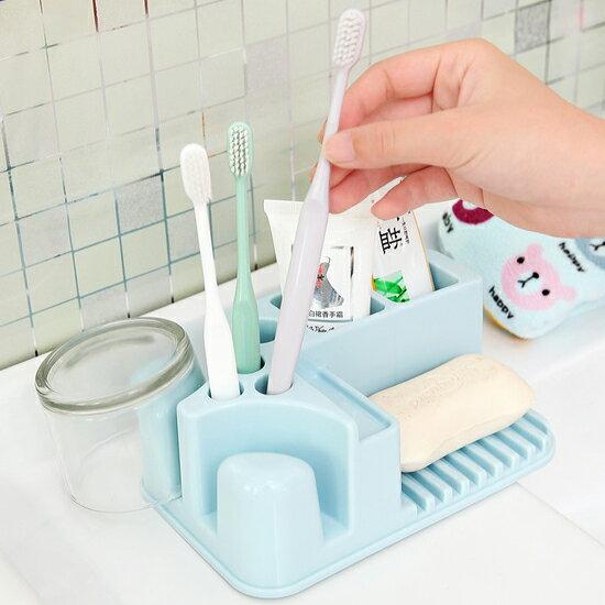 ♚MY COLOR♚桌面式洗漱收納架 浴室 收納 牙膏 水杯 毛巾 洗臉 牙刷 置物 牙杯 乾淨【S11】