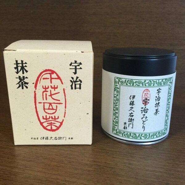 爽快屋:手刷抹茶專用京都伊藤久右衛門宇治抹茶みどり30g缶入り