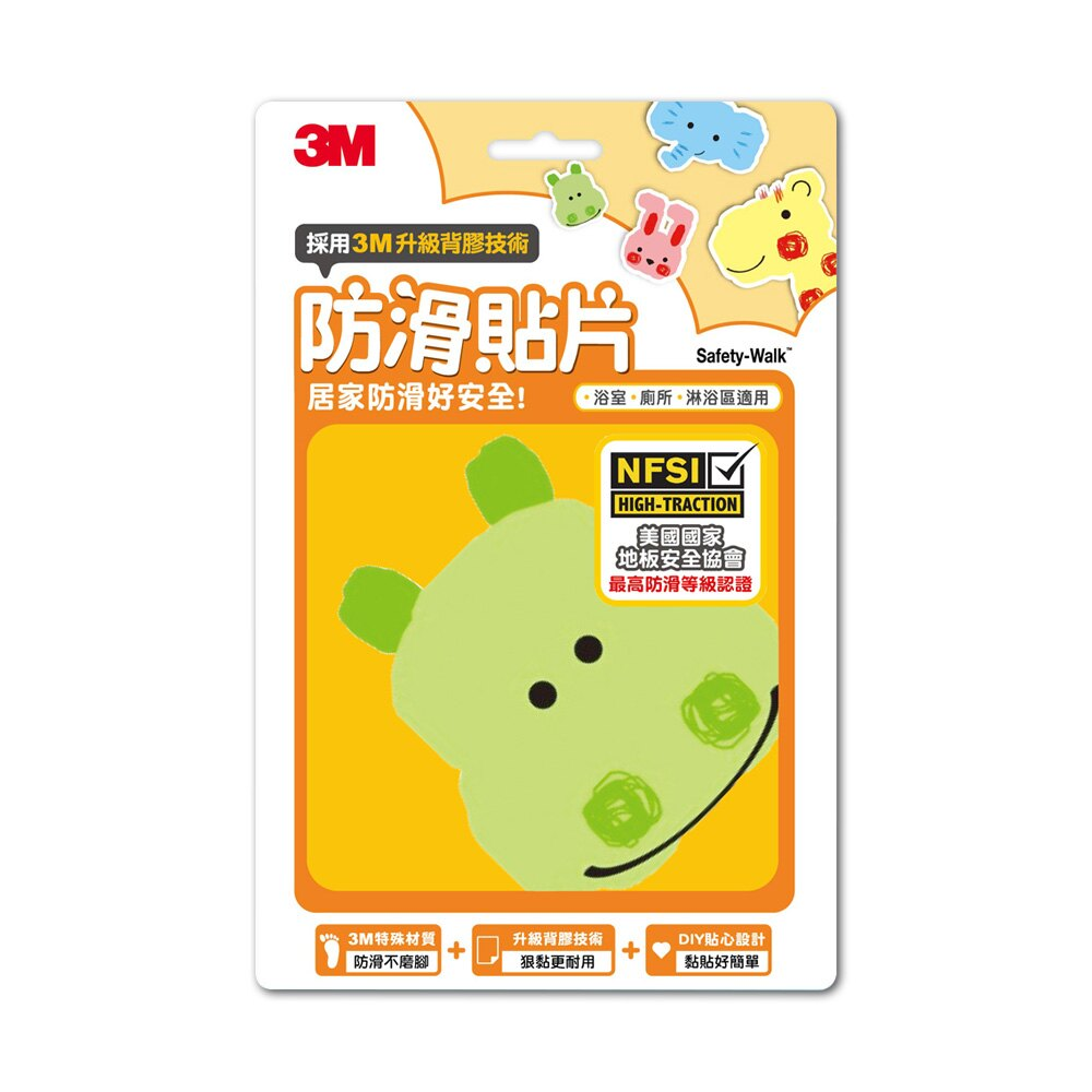 3M 防滑貼片-動物 (6片入)104029 1
