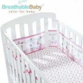 【淘氣寶寶】英國【BreathableBaby】透氣嬰兒床圍 全包型 (18430森林花園款)